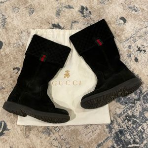 KIDS GUCCI SUEDE BOOT